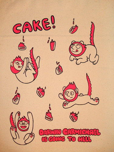 """Cake!"" Tote Bag Detail 
