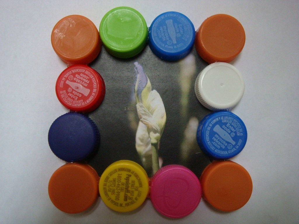 Plastic Bottle Cap Picture Frame When We Used To Drink
