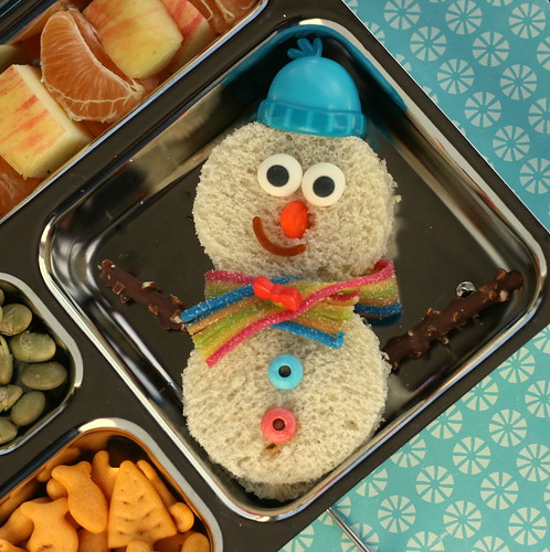 PlanetBox Snowman Sandwich | by anotherlunch.com