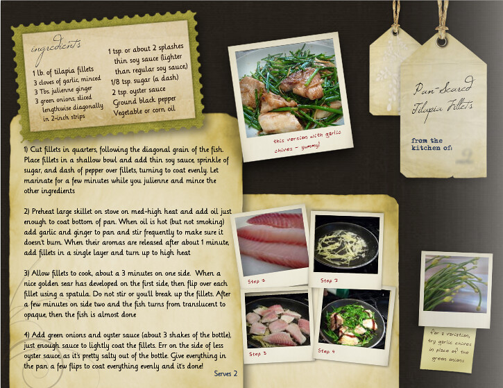 mixbook cookbook template layout