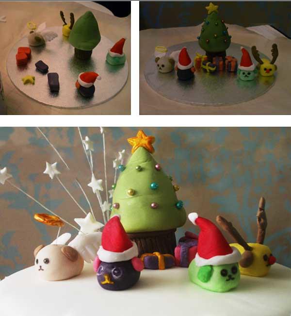 Sugarcraft Christmas Cake Decorations