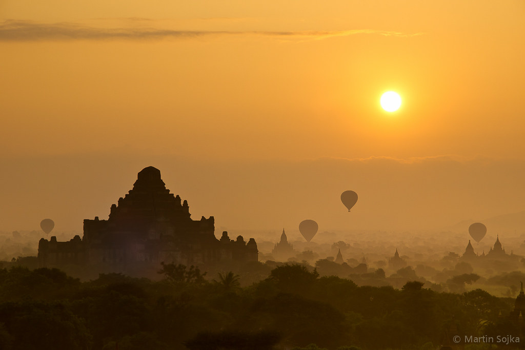 Sunrise over Bagan ~ Myanmar (Burma) | Spectacular Bagan ...