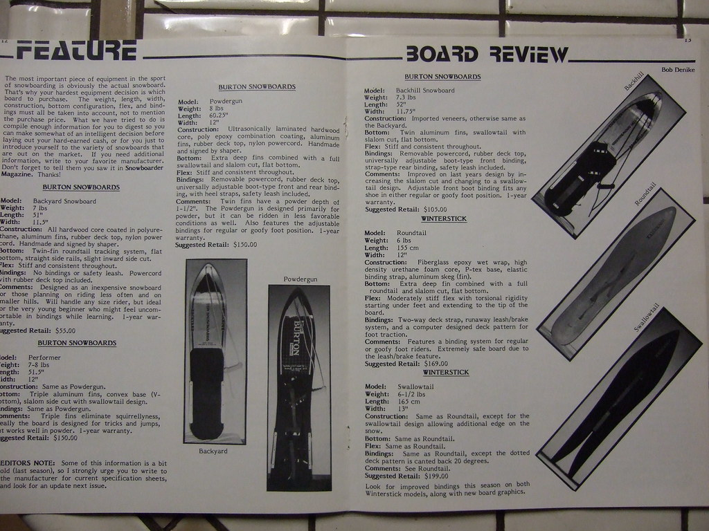 snowboard magazine board review section vintage snowboards flickr