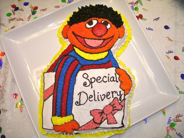 Ernie cake at sesame street baby shower 1 15 flickr photo sharing - Sesame street baby shower ...