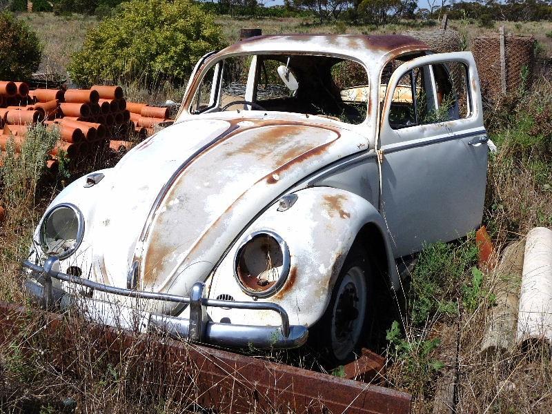 1964 Volkswagen Beetle Rusty Covers A 1964 Volkswagen