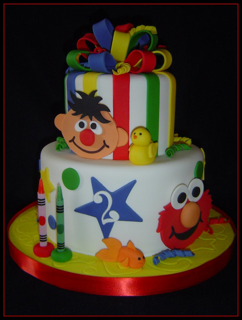 Elmo Design Birthday Cake : Elmo/Ernie Birthday Cake Inspired by the FANTASTIC ...