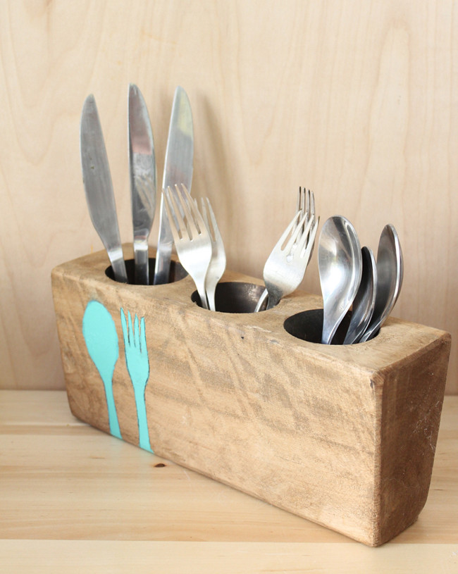 Compai upcycled sugar mold justina blakeney flickr for Creative silverware storage