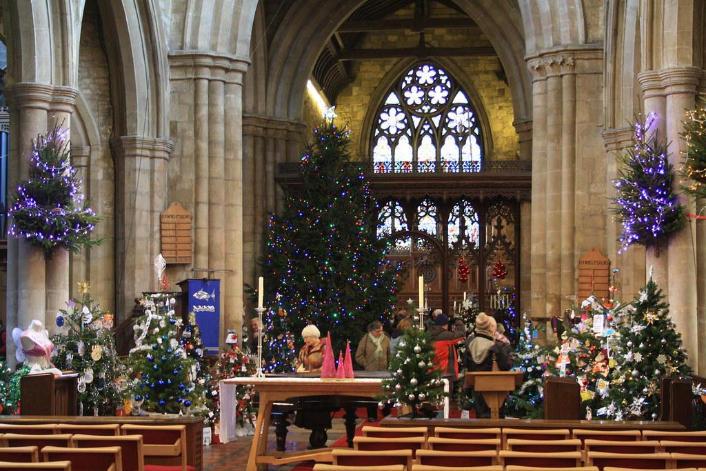 Christmas Tree Festival   300 Christmas trees at St Marys ...