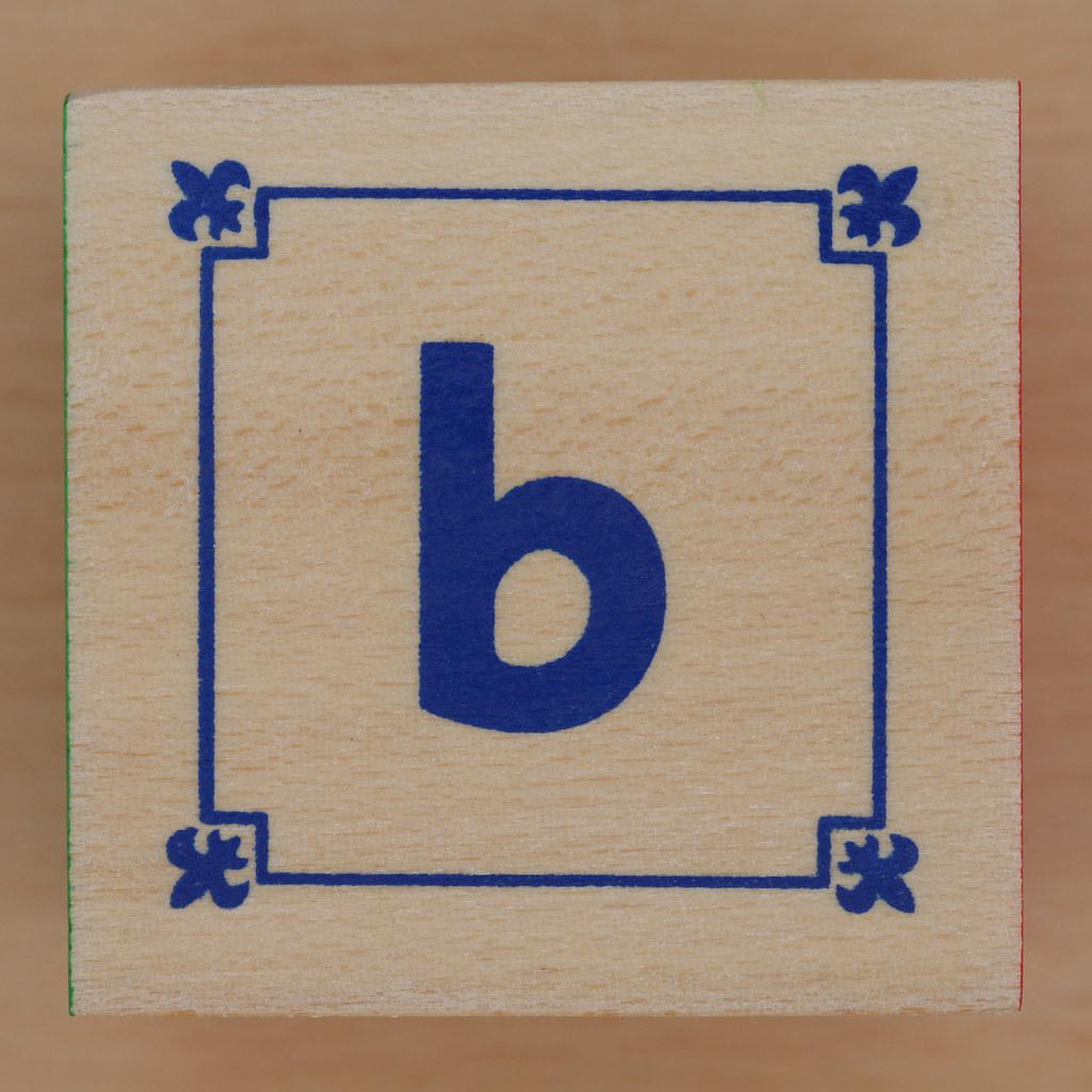 Block Lowercase Letter b Leo Reynolds