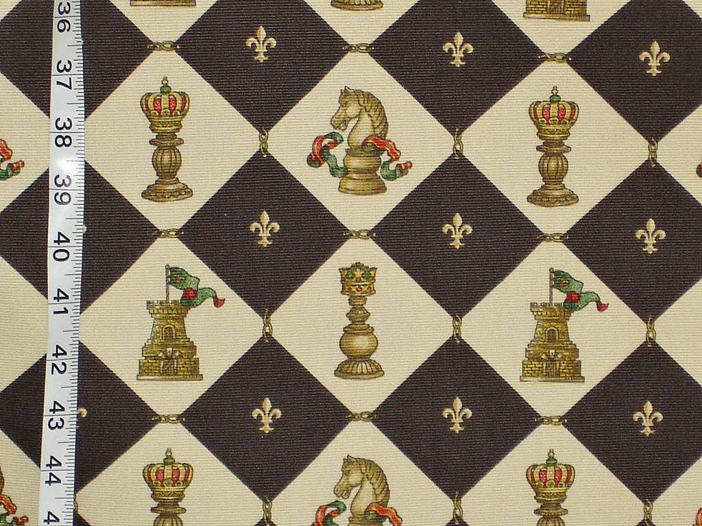Chess Fabric Medieval Fleur De Lyse A Chess Fabric With