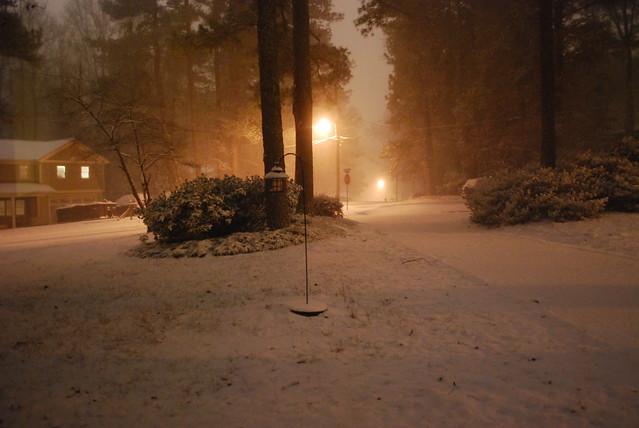 Snow! Around midnight