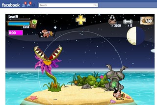 Screenshot of Pocket God on Facebook | by On Being