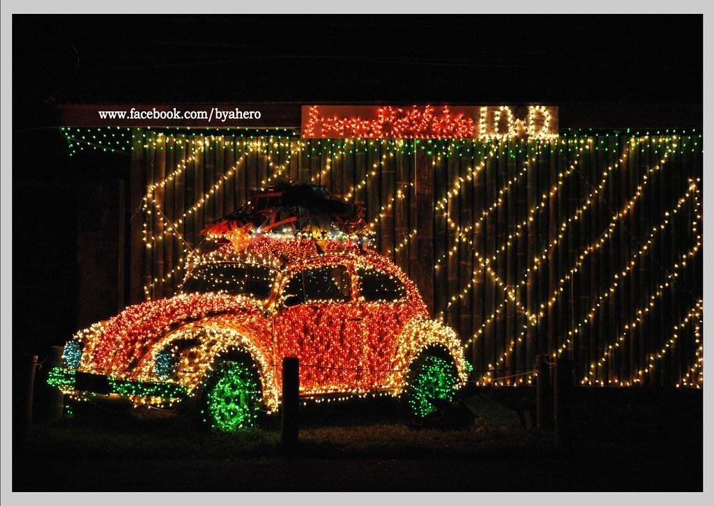 volkswagen beetle christmas display  ligao city sherwin flickr