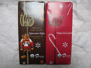 Theo Nutcracker Toffee and Peppermint Stick | by veganbackpacker