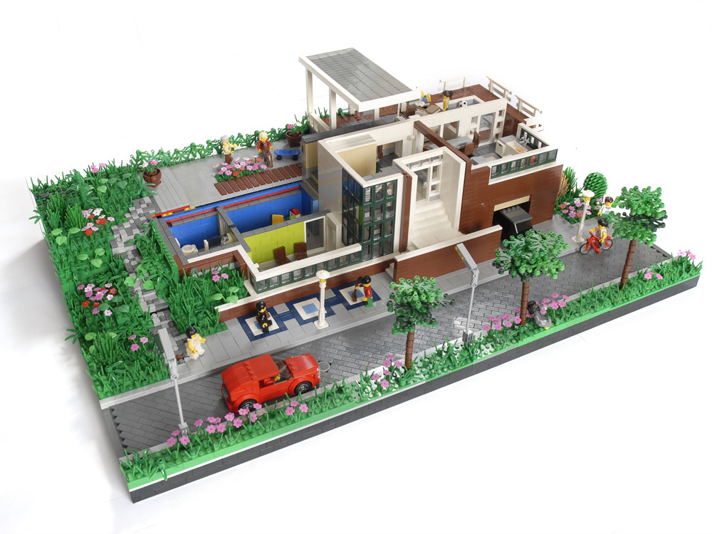 Huis ter dijk and this is my entry for the brick for Casa moderna lego