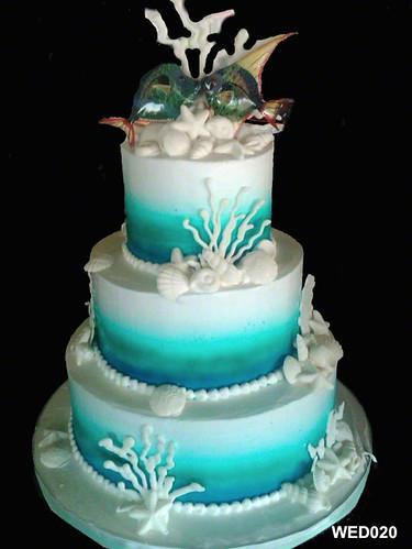 Wed020 3 Tier Round Ocean Wedding Cake 20 Flickr Photo