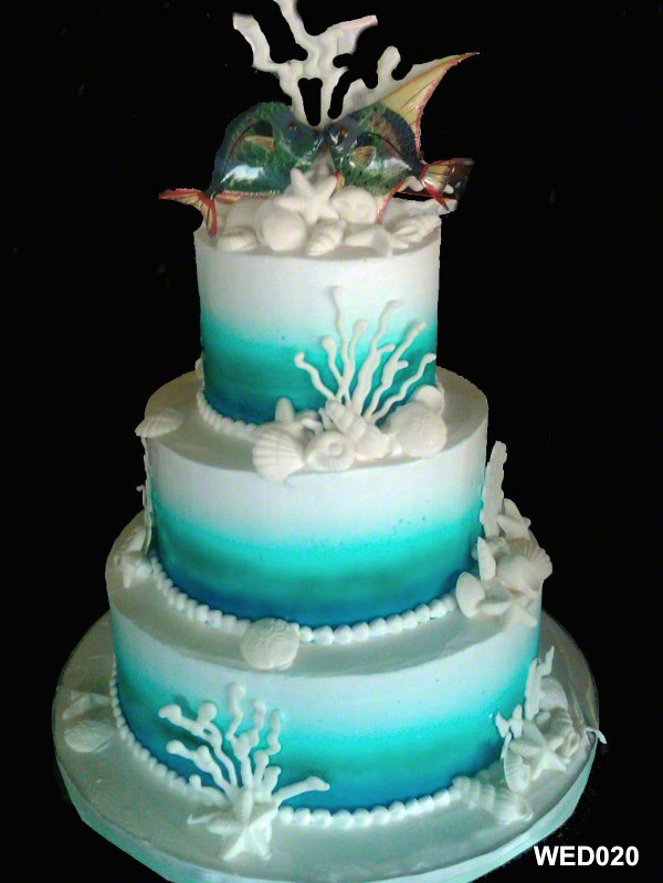 ocean themed wedding cakes wed020 3 tier wedding cake 20 3 brothers 17967
