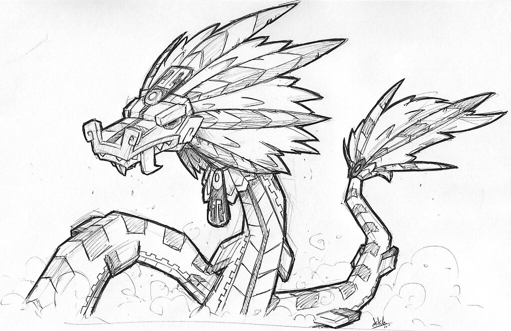 Aztec Serpent Drawings Aztec Warrior Grey b Gif