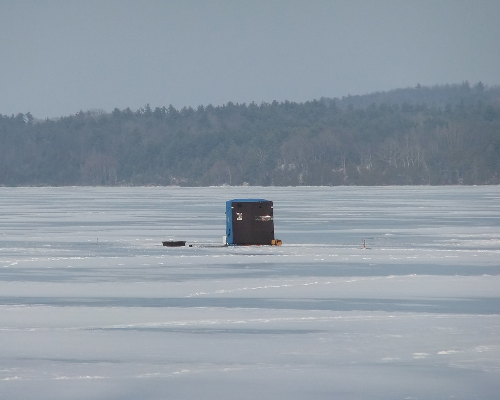 ice fishing on lake champlain between new york and