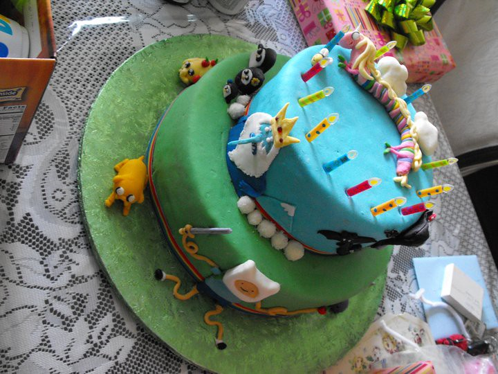 Cake Design Adventure Time : ADVENTURE TIME CAKE 2 Tier Marble & Chocolate Chocolate ...
