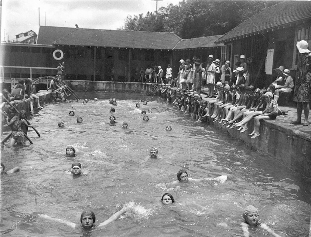 General view of the baths domain baths woolloomooloo c - Johnson swimming pool roseville ca ...