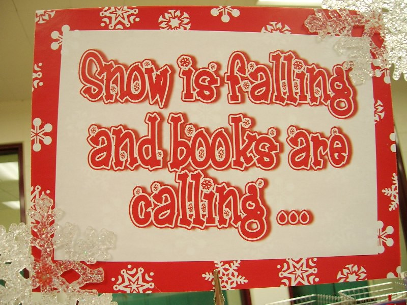 Christmas Ideas For School Libraries : Snow is fall and books are calling enokson flickr