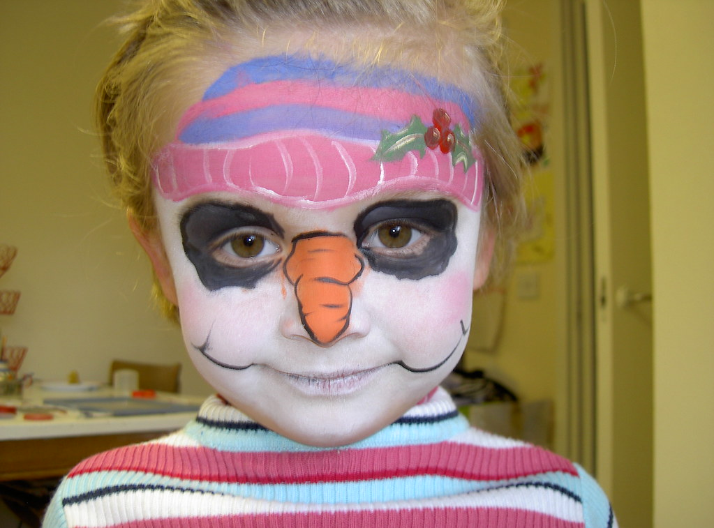 snowman face painting | Nicola Shipley | Flickr