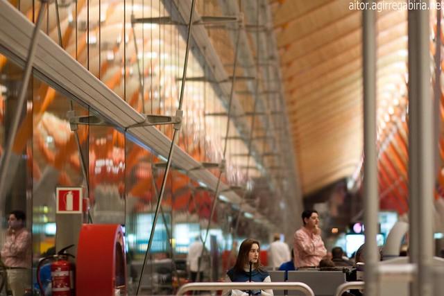 T4 madrid barajas airport flickr photo sharing - Maderas lamelas ...