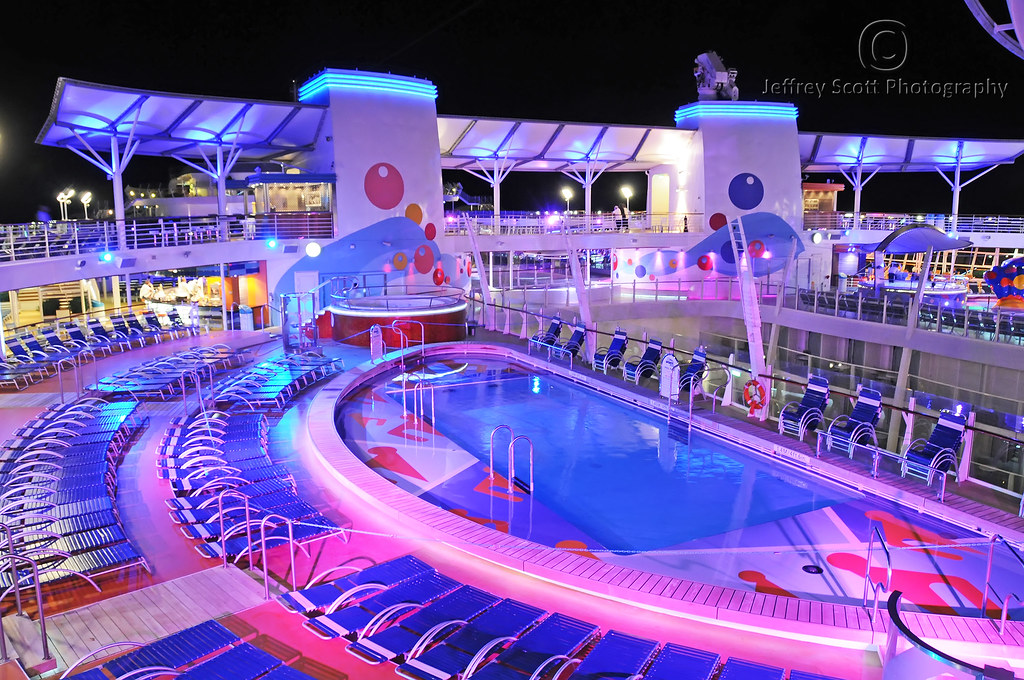 Cruise Ship Pool Deck At Night A Night Time Photograph Of Flickr