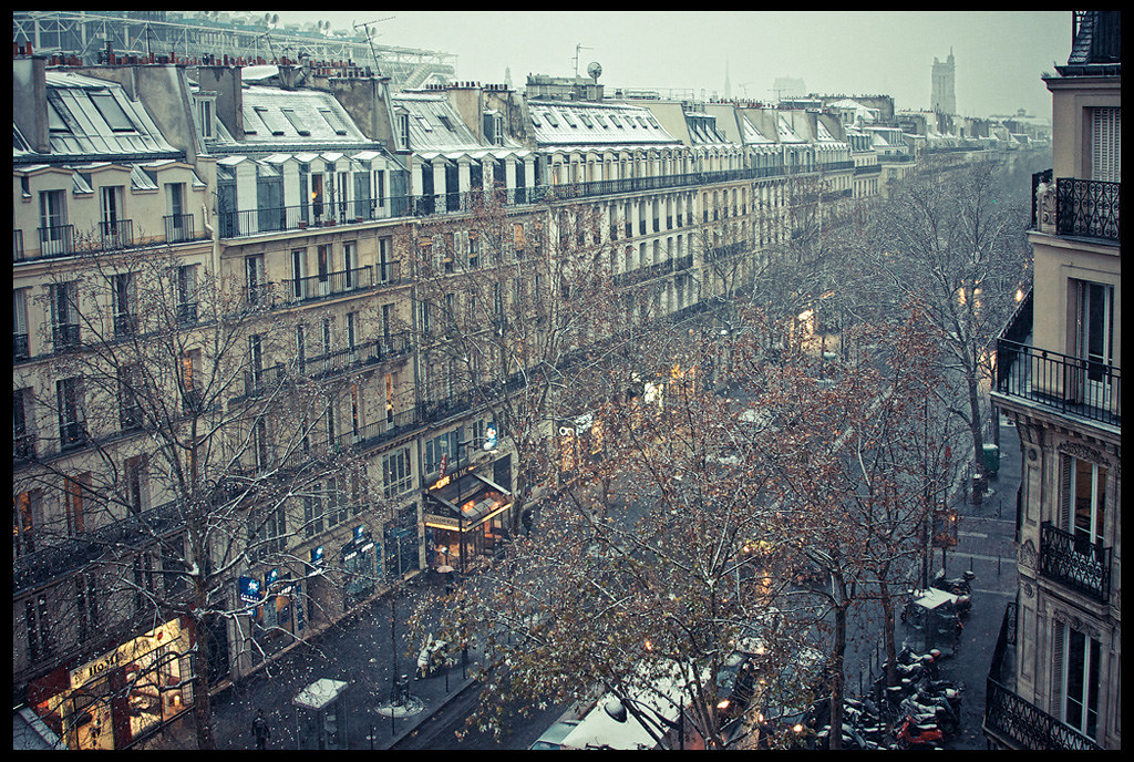 neige sur le boulevard de s bastopol paris annie mall gol flickr. Black Bedroom Furniture Sets. Home Design Ideas