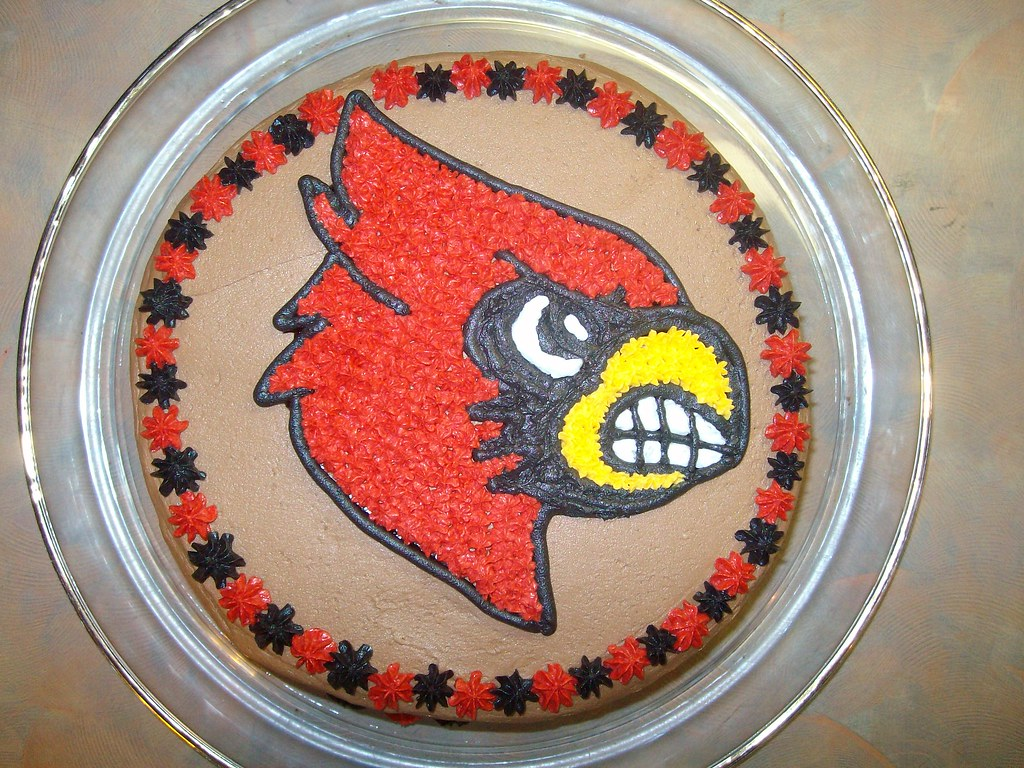 Louisville Cardinal Cake My Sons 13th Birthday Cake Flickr