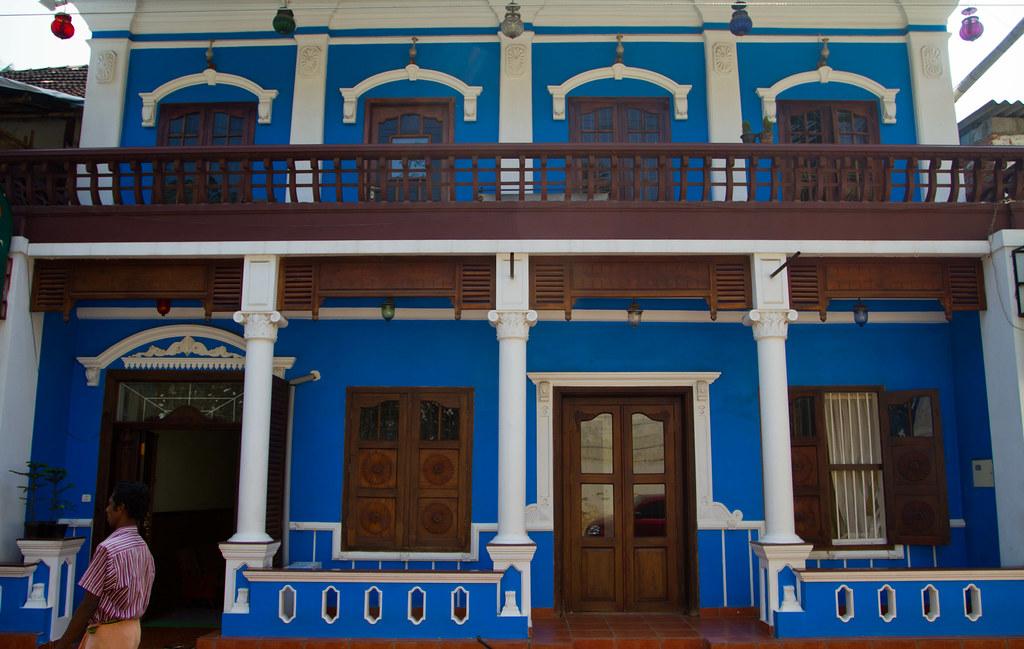 blue house in Cochin | Cochin, Kerala for Christmas 2010 ...