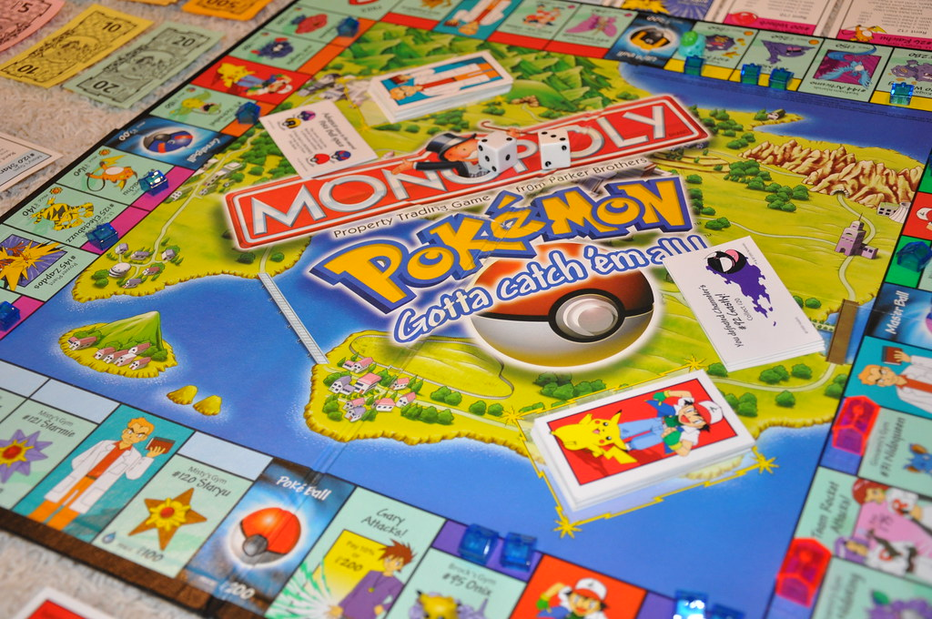 Pokemon Monopoly Pokemon Monopoly Set From 1999 Dug It Ou Flickr