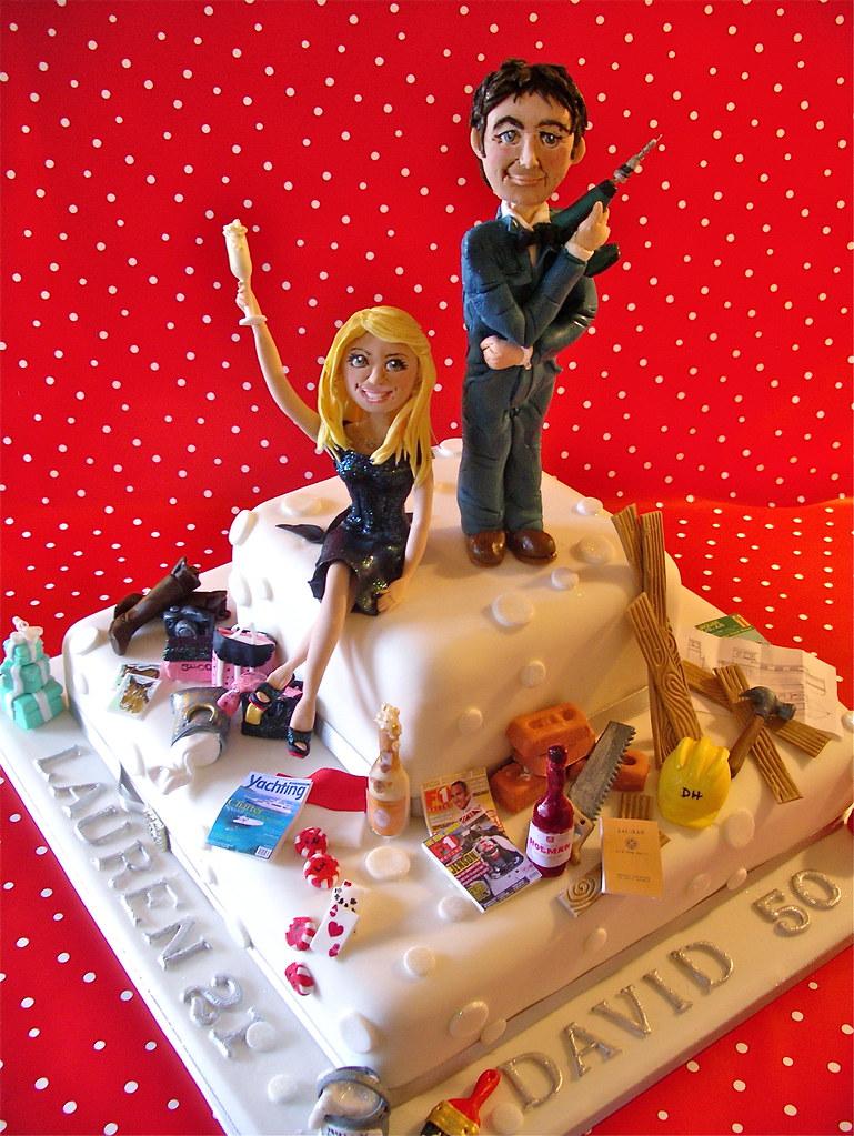 Father & daughter birthday cake Lynette Horner Flickr