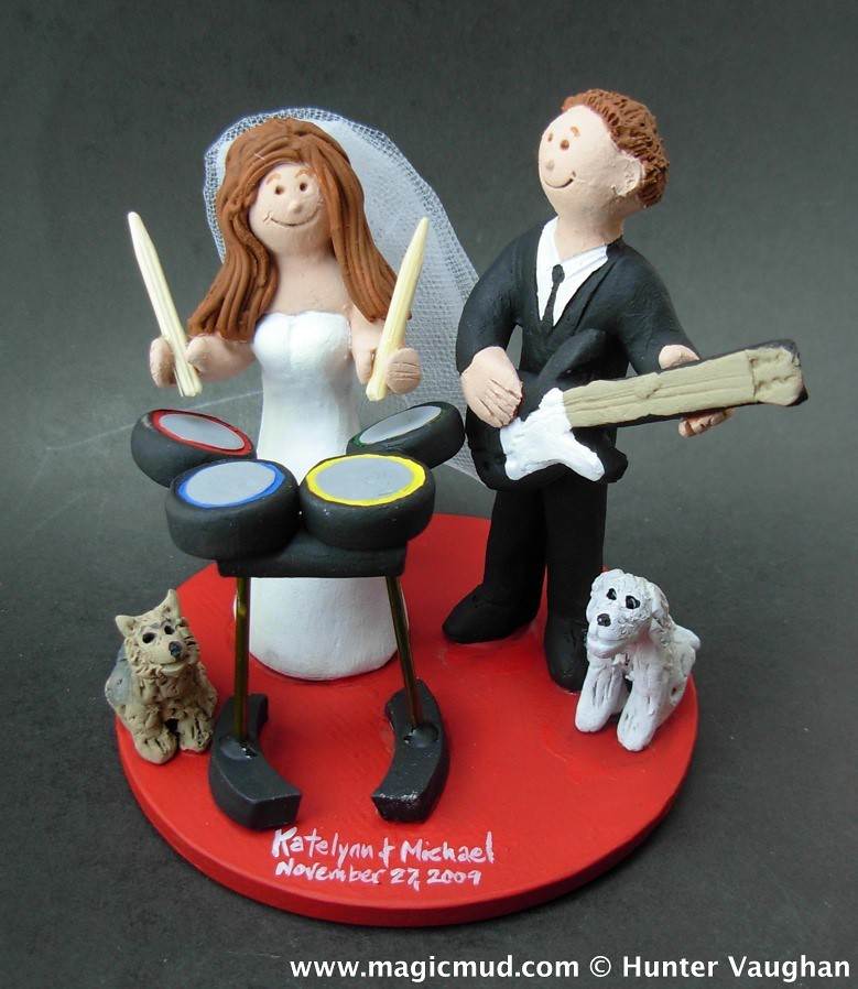 wedding cake topper guitarist rock band wedding cake topper any professions or hobbies 26333