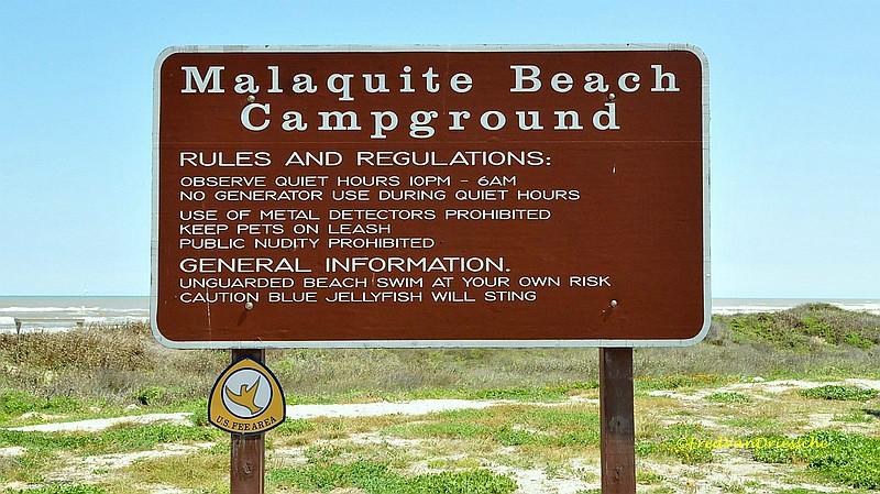 Beach Camping At Padre Island