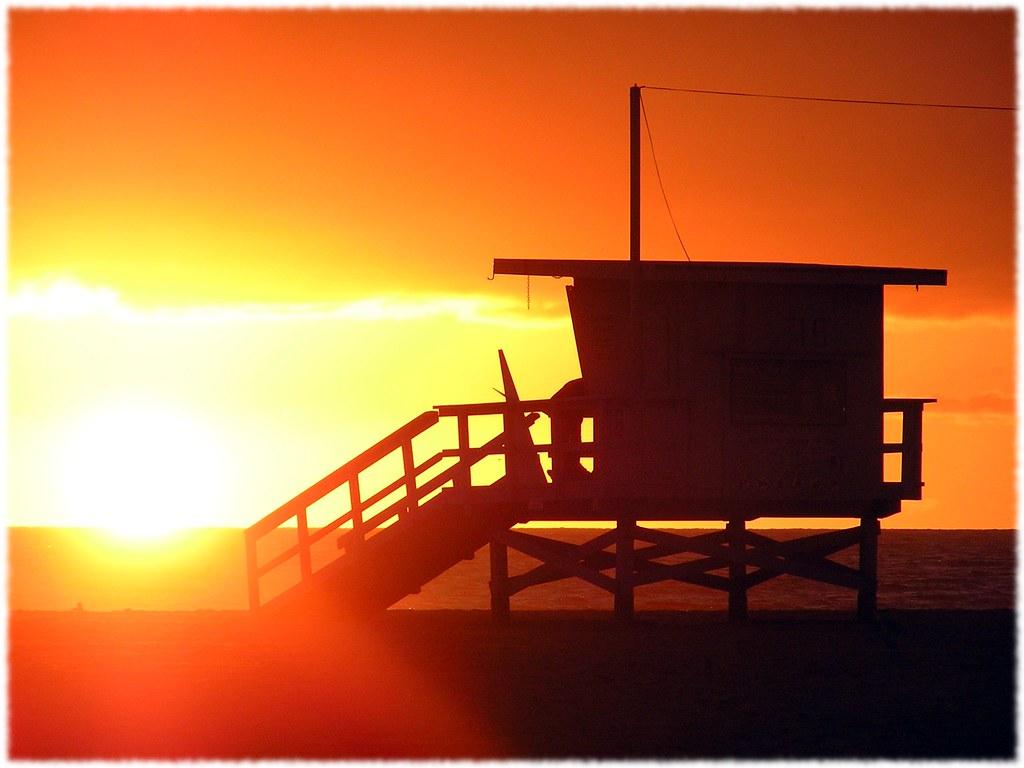 Baywatch Sunset   luciasantamaria   Flickr