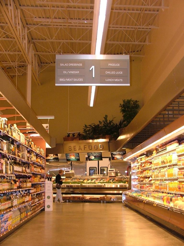 Grocery Store Sign Grocery Store Aisle