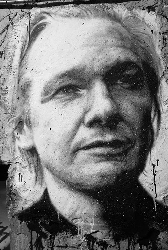 Julian Assange painted portrait - Wikileaks | by Abode of Chaos