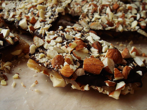 Chocolate Almond Buttercrunch Toffee | by ComeUndone