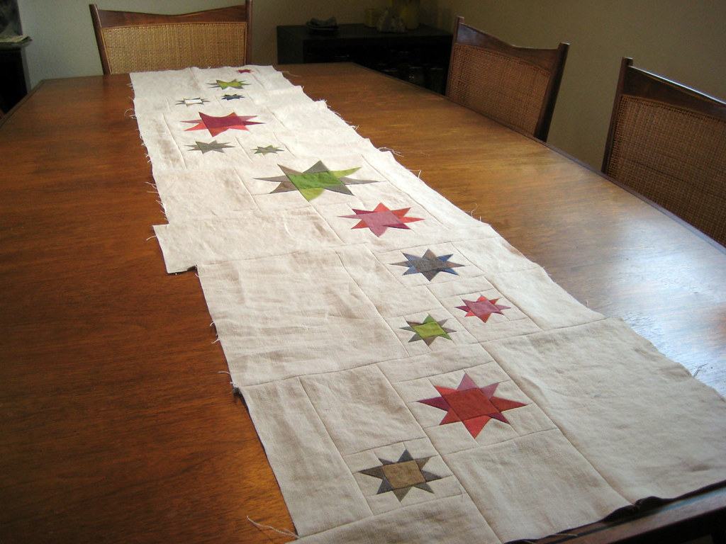 Starry Night Table Runner Top