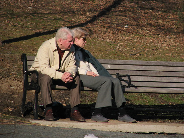 Park bench couple 2