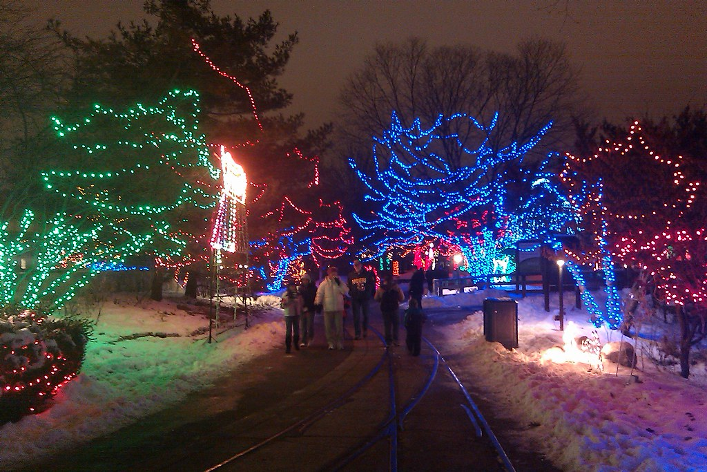 Christmas lights display at the Indianapolis Zoo | Erik Deckers ...