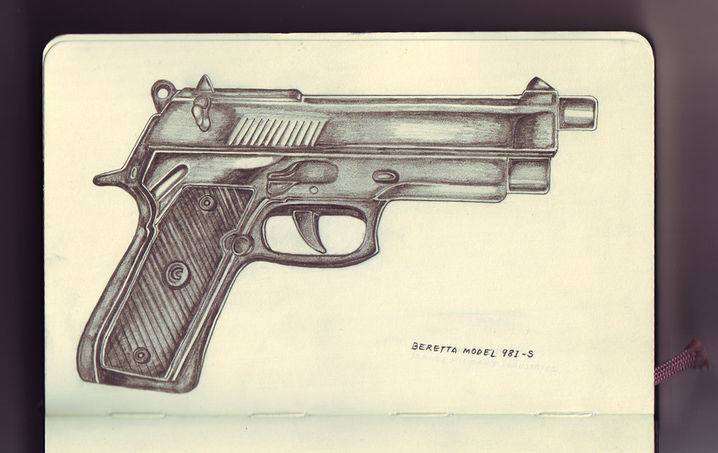Gun Pencil Drawings Gun Drawings Beretta