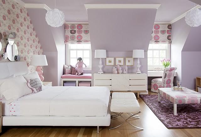 7 Inspiring Kid Room Color Options For Your Little Ones: Decoração E Inspiração:Quarto Lilás, Branco E Rosa