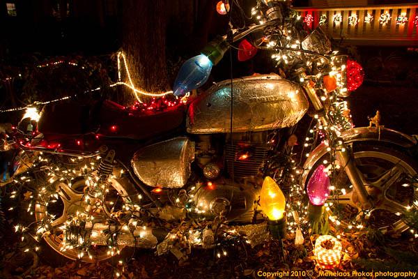Motorcycle christmas lights