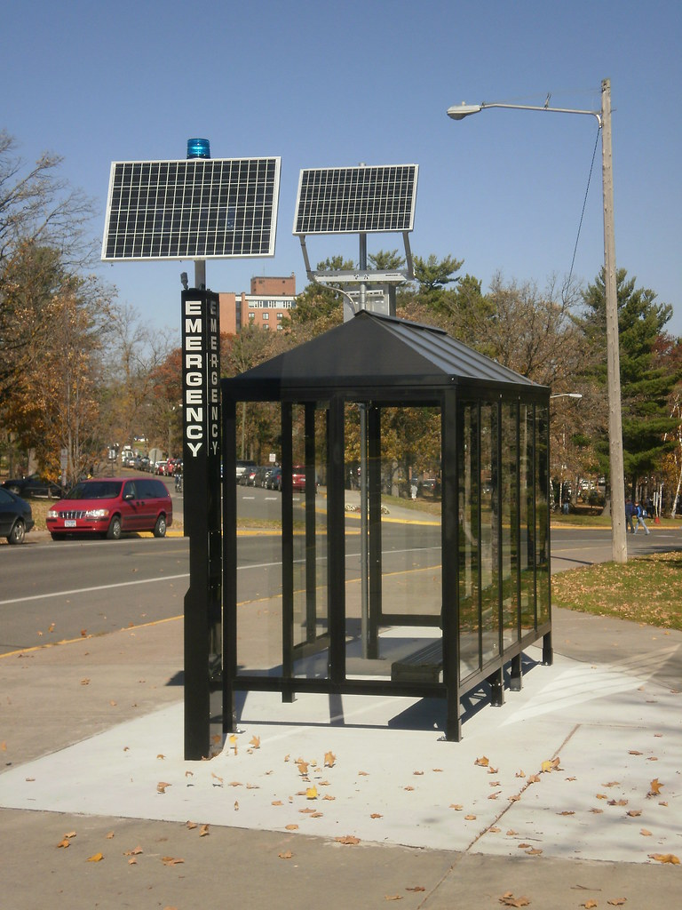 Solar Powered Bus Shelter Bemidji State University Flickr