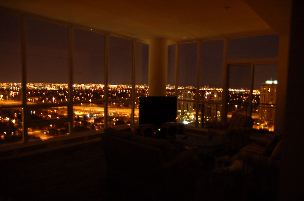 Living room at night without light From various rooms and Flickr