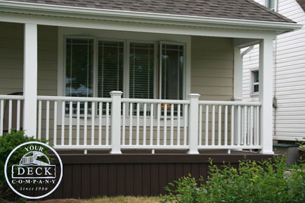 large trex decking porch   Trex-367   We constructed this front porch deck using Trex ...