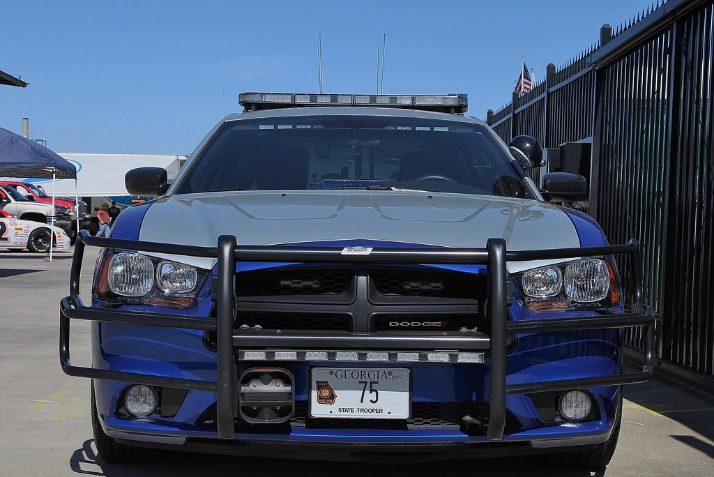 Georgia State Patrol 75 Front Dodge Patrol Car X376